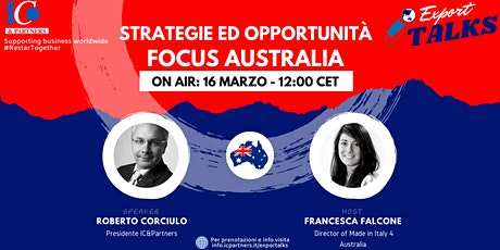 Export Talks - Focus Australia biglietti
