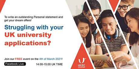 Struggling with your UK University applications? tickets