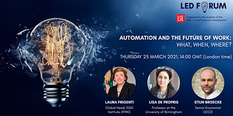 Automation and the Future of Work: What, When, Where? tickets