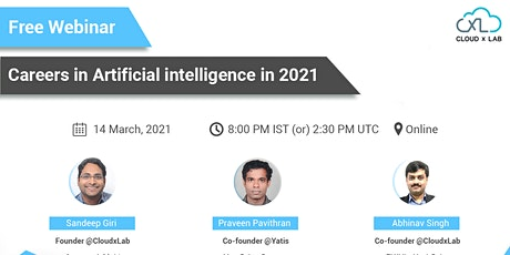 Free Webinar on Careers in Artificial Intelligence in 2021 tickets