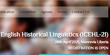 International Conference on English Historical Linguistics (ICEHL-21) tickets
