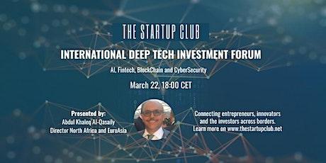 International DeepTech Investment Forum tickets