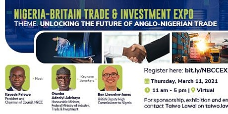 Nigeria-Britain Trade and Investment Expo tickets