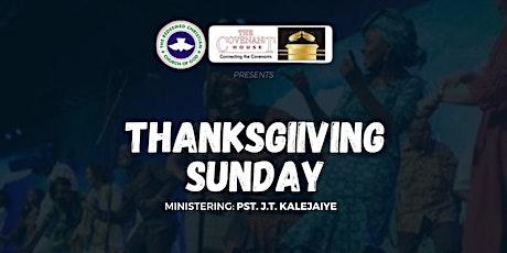 Thanksgiving Sunday tickets