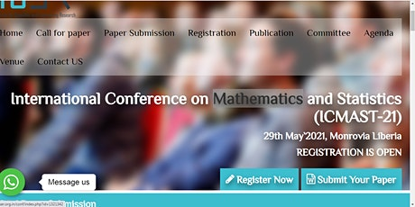 International Conference on Mathematics and Statistics (ICMAST-21) tickets