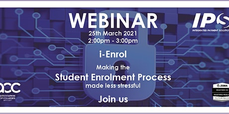 i-Enrol Webinar - IPS Ltd Showcases its NEW Asset Tracking System tickets