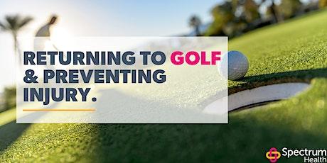 Greater Golfing - Avoiding Injury Post Lockdown tickets