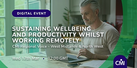 Sustaining wellbeing and productivity in remote working times tickets
