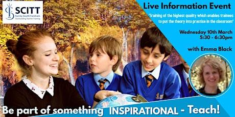 Surrey South Farnham SCITT - Information Event tickets