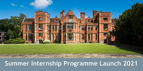 Summer Internships - Programme Launch 2021 (York) tickets