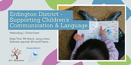 Erdington District - Supporting Children's Communication & Language tickets
