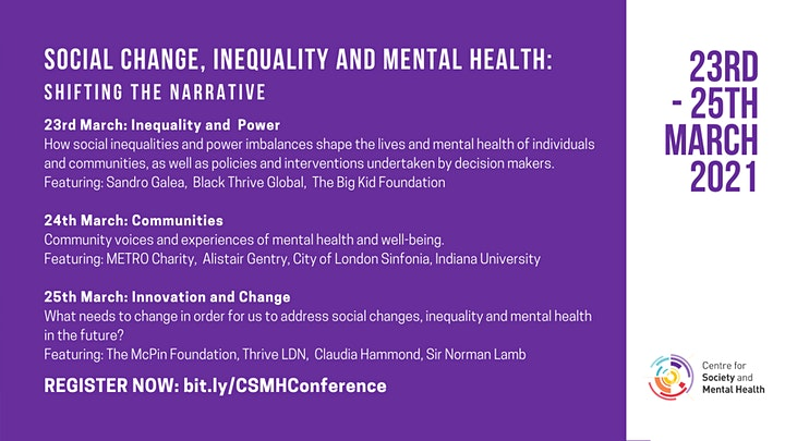 Social Change, Inequality and Mental Health: Shifting the Narrative image