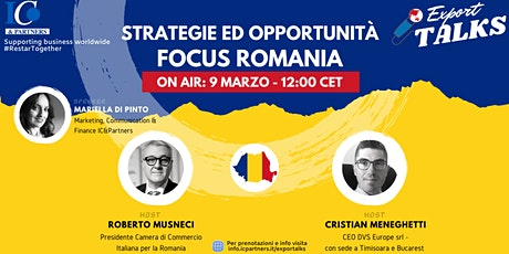 Export Talks - Focus Romania biglietti