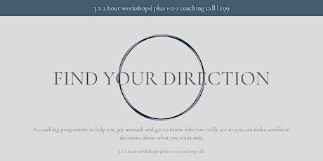 Find your Direction Coaching Programme tickets