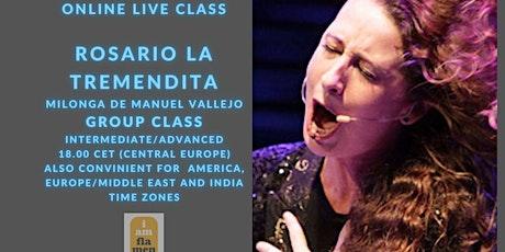 ONLINE Masterclass LA TREMENDITA / Milonga de Manuel Vallejo tickets