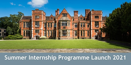 Summer Internships - Programme Launch 2021 (Harrogate) tickets