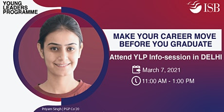 ISB Young Leaders Programme Info-session | New Delhi (11 AM - 1 PM) tickets