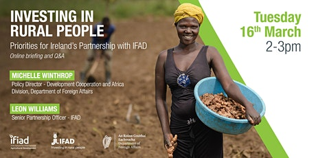Investing in Rural People - Priorities for Ireland's Partnership with IFAD tickets