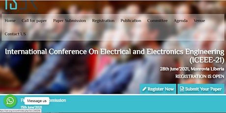 International Conference On Electrical and Electronics Engineering (ICEEE-2 tickets