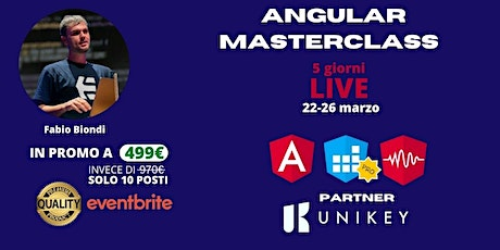 ANGULAR MASTERCLASS tickets