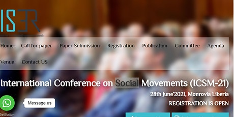 International Conference on Social Movements (ICSM-21) tickets