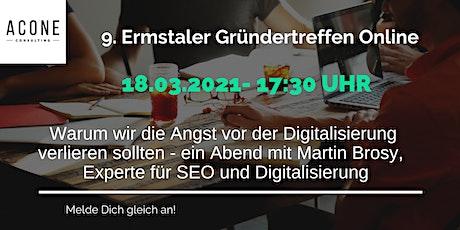 9. Ermstaler Gründertreffen Online zum Thema Digitalisierung tickets