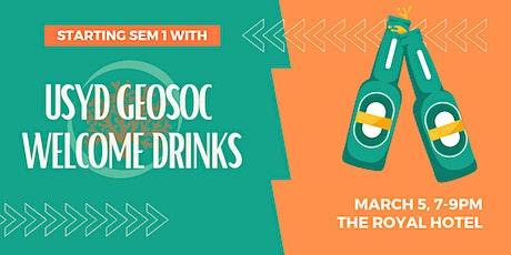 USYD Geosoc Welcome Drinks tickets
