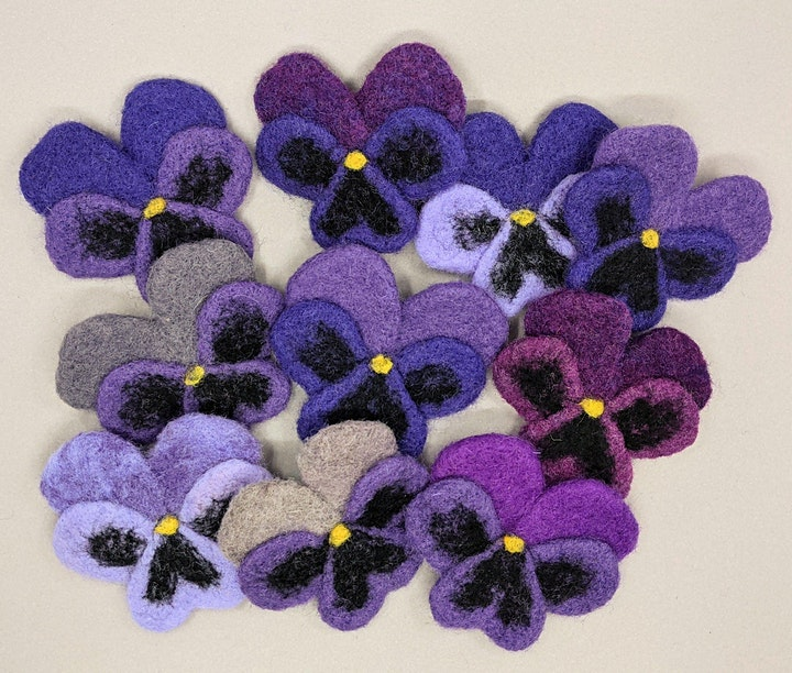 Needle Felt a Pansy Flower – Evening Workshop image