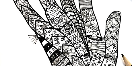 Wellbeing Art Sessions - Zen Doodle Hand tickets