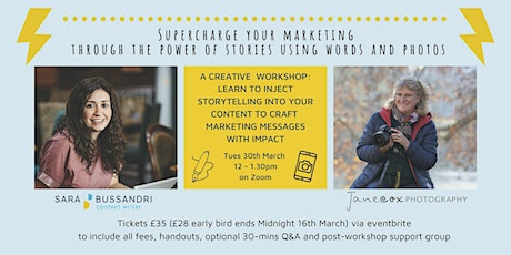 Supercharge your marketing through the power of stories tickets