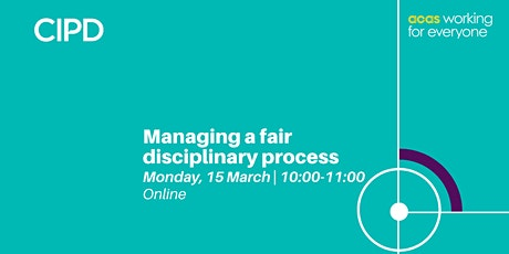 Managing a fair disciplinary process | Annual employment law masterclass tickets