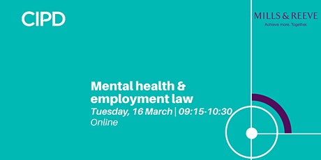 Mental health & employment law | Annual employment law masterclass tickets