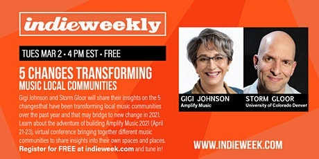 INDIE WEEKLY:  5 Changes Transforming Local Music Communities! Tickets
