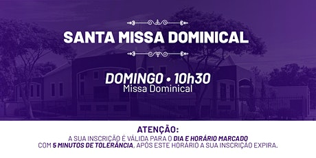 Santa Missa Dominical - Domingo | 28 de Fev. 10h30 ingressos