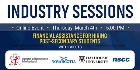 Financial assistance for hiring post-secondary students tickets