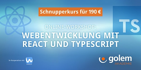Schnupperkurs: Webentwicklung mit React and TypeScript Tickets