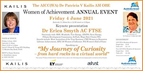 The AICC(WA) Dr Patricia V Kailis AM OBE Women of Achievement ANNUAL EVENT tickets