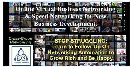 Online Virtual  Business Networking Events by CrossGroup Networking tickets