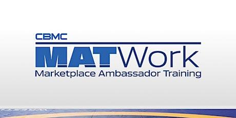 CBMC MAT Work Training (via Zoom) – Marketplace Ambassadors in a 2021 World tickets