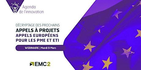 "Agenda de l'innovation ""Cascading calls européens"" billets"
