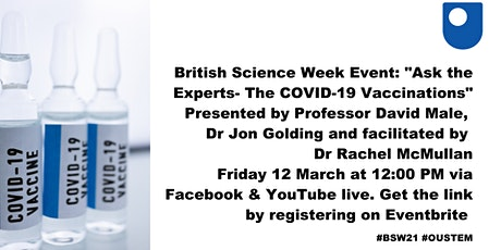 British Science Week's Ask the Expert: COVID-19 Vaccines tickets