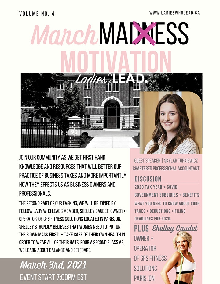 March MOTIVATION  with Ladies Who Lead image