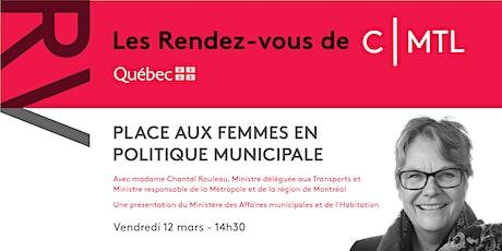 RV CMTL : la place des femmes en politique municipale billets