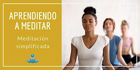 Aprendiendo a meditar - Meditación simplificada entradas