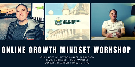 Online Growth Mindset Workshop with Jamie McBrearty from yMindset tickets