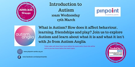 Introduction to Autism - Peterborough & Cambridgeshire Parents and Carers tickets