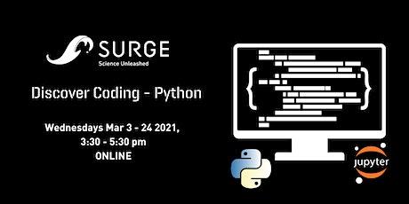 SURGE Discover Coding - Discover Python tickets
