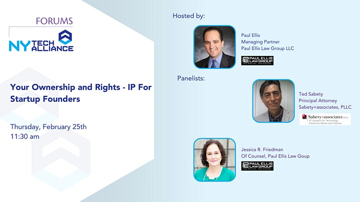 NYTA Forum: Your Ownership and Rights - IP For Startup Founders image