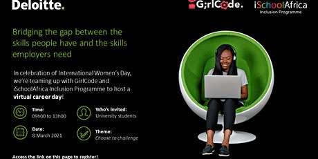 Deloitte/ GirlCode  Virtual Career Day Conference tickets