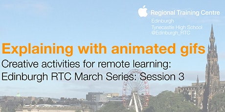 Creative activities for remote learning – explaining with animated gifs tickets